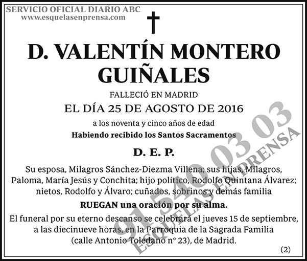 Valentín Montero Guiñales